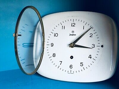 Junghans - Wall Clock - German Vintage Ceramic 70's Modern 20th C. Design VG
