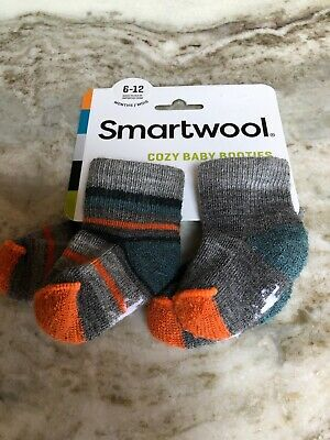 Infant Boys Light Gray Heather 2-Pack Smartwool Bootie Batch 6M