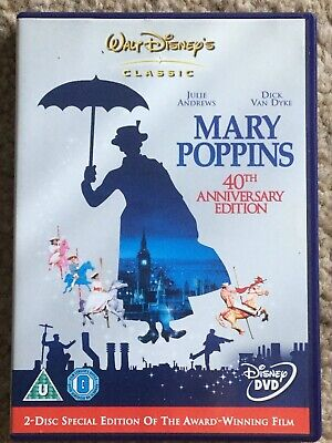 Disney's Mary Poppins 40th Anniversary Edition 2 Disc DVD  - Julie Andrews