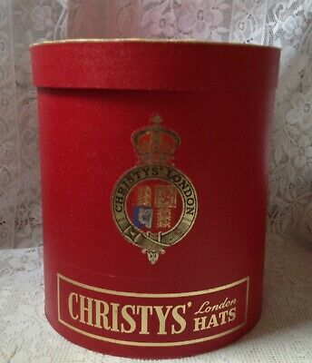Vintage Christys Of London, Large Hat Box Fits Four Bowlers, Cardboard
