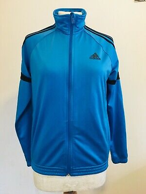 ADIDAS Blue Sports Zip Up Tracksuit Jacket Size 6 to 8 uk or 13 to 14 years