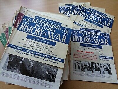 LARGE Collection of 77 x WW2 publication - 'PICTORIAL HISTORY OF THE WAR'
