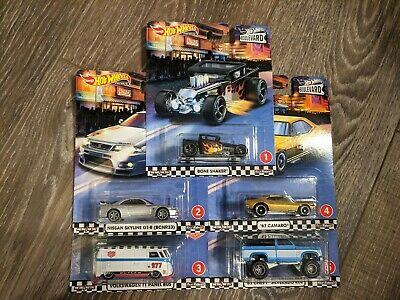 2020 Hot Wheels Boulevard Complete Set of 5 Cars