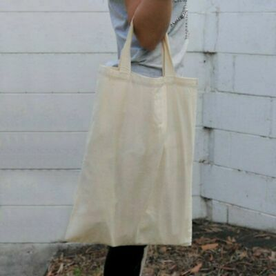 Plain Cotton Calico Tote Bags DIY Promo Conference Shopping Carry Bag   EXTRA