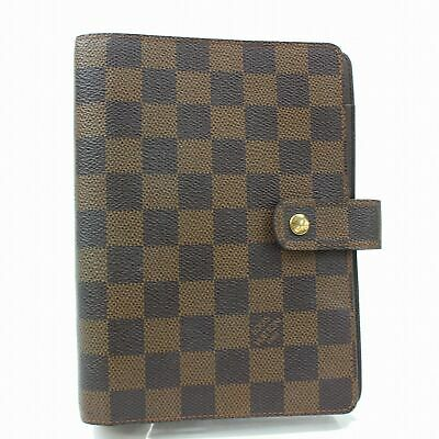 100% Auth Louis Vuitton Diary Cover Agenda MM Browns Damier