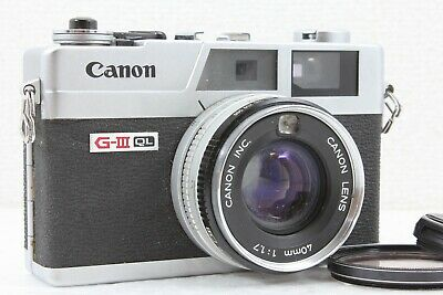 """EXC+5"" CANON Canonet QL17 GIII 35mm Rangefinder Camera 40mm F/1.7 Lens Japan"
