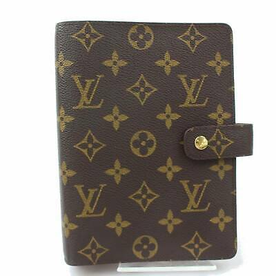 100% Auth Louis Vuitton Diary Cover Agenda MM Browns Monogram