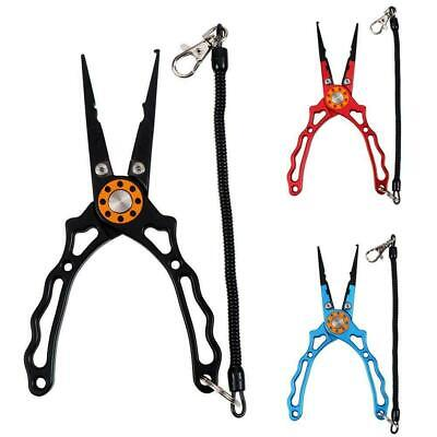 Aluminum Alloy Fishing Pliers Fishing Line Cutter with Sheath and Lanyard J I0D0