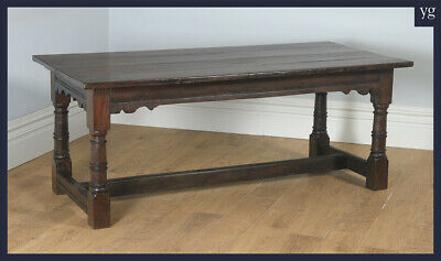 """Antique 17th Century 6ft 3"""" Solid Oak Farmhouse Kitchen Refectory Dining Table"""