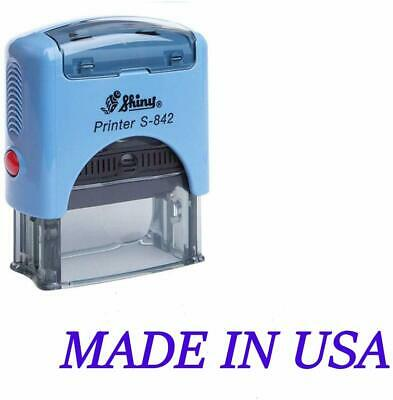 Shiny Made in USA 38 × 14 mm Self Inking Rubber Stamp Office Stationary Custom