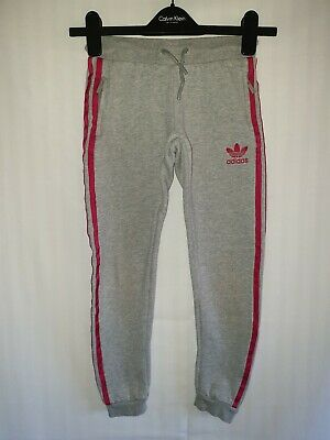 Girls ADIDAS ORIGINALS Cuffed Tracksuit Bottoms Age 9-10 Years