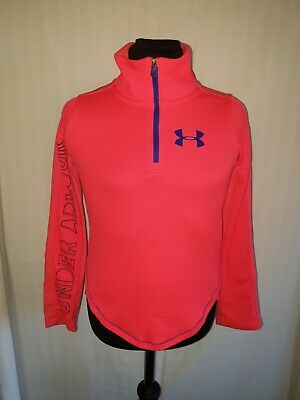 Girls UNDER ARMOUR Half Zip Fitted Track Top Age 7-8 Years