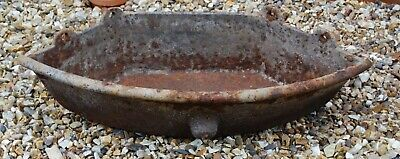 Heavy cast iron feeding trough for planter