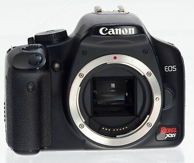 Black Canon EOS Digital Rebel XSi 12.2MP Digital SLR Camera Kit w 18-55mm Lens