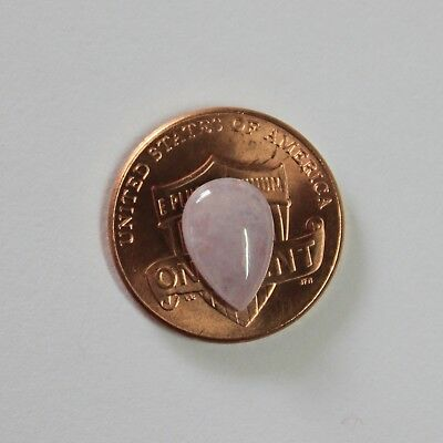 """1.95ct Certified Natural Jade """"Grade A"""" Icy Light Lavender Jadeite Cabochon"""
