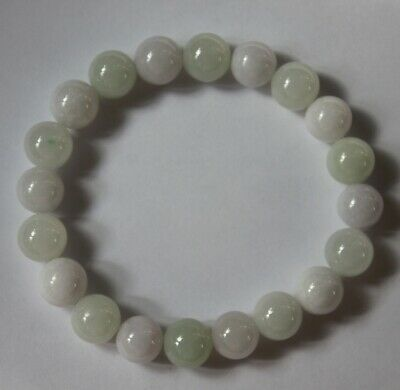 Genuine Natural Jade CERTIFIED (Grade A) Light Lavender Jadeite Bracelet #Br586