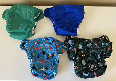 Smartbottoms AIO Dream 2.0 And 3.1 cloth diapers. Lot of 4