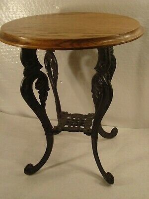 Antique Ornate Cast Iron Table base Plant stand.