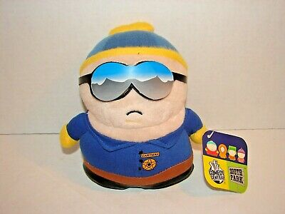 """SOUTH PARK ~ COP CARTMAN 8"""" INCH PLUSH DOLL 2005 With Tags!!!"""