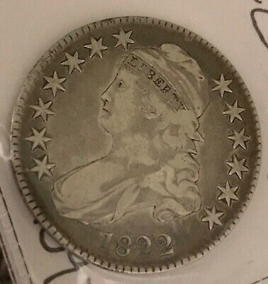 1822 Capped Bust Silver Half Dollar * United States Coin