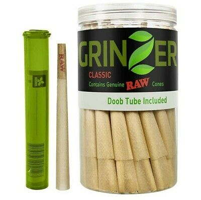 RAW Cones Classic King Size 100 Pack Natural Pre Rolled Rolling Papers Gift Free