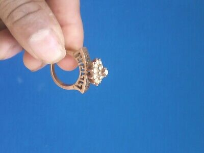 Antigue Ancient Ring Roman Bronze Old Rare Vintage Authentic Extremely Old Large