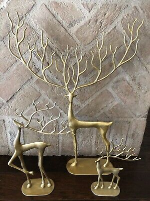 Pottery Barn SCULPTED  Reindeer bronze votive holder New wo tag