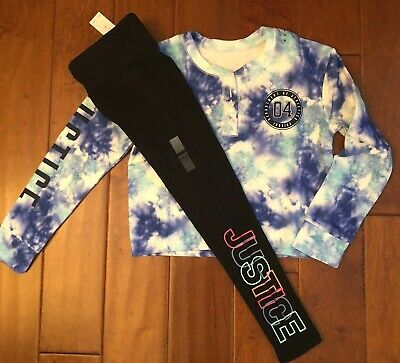 NWT Girls Justice Multi Color Tye Die Short Sleeve Top-Going Places Doing Things