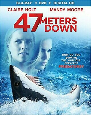 BLU-RAY 47 Meters Down (Blu-Ray/DVD) NEW Claire Holt, Mandy Moore NEW