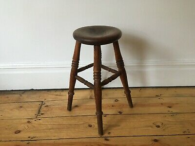 Antique Carved Country Rustic Beautiful Stool