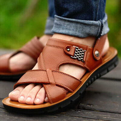 Mens Roman Style Leather Sandals By MIG in Size 6 to 12 UK  MLS-006
