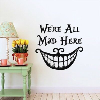 We're all Mad Here Alice In Wonderland Vinyl Decal Sticker for Car Decor J6U