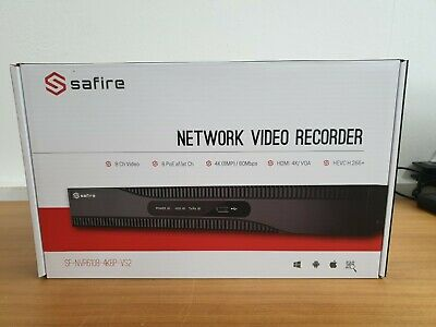 Safire SF-NVR6108-4K8P-VS2 - Network Video Recorder -OHNE HDD/without HDD