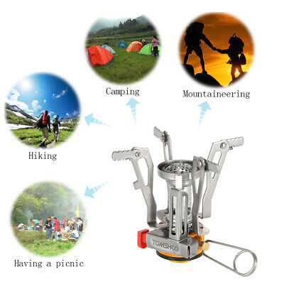 TOMSHOO Backpacking Canister Stove Burners Camping Outdoor Cooking Foldable A9Y4