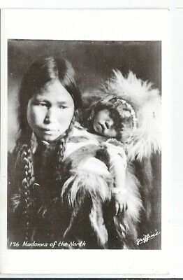 CB-096 AK, Madonna of the North, Eskimo Woman and Child Real Photo Postcard RPPC