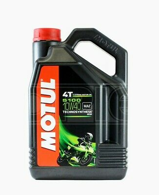 Motul 5100 10W-40 4T Motorcycle Engine Oil 10W40 5 litres. 5 LITRES