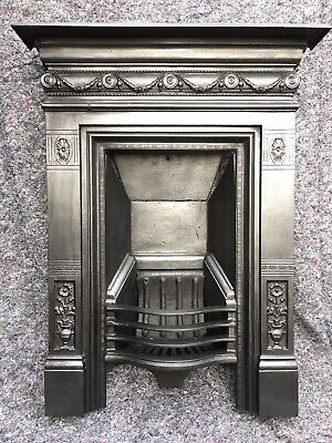 Antique Victorian Cast Iron Fireplace / Fire Surround Uk Delivery