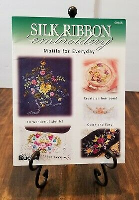 Bucilla SILK RIBBON EMBROIDERY MOTIFS FOR EVERYDAY Booklet 99105