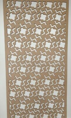 Radiator Cabinet Decorative Screening Perforated 3mm & 6mm thick MDF lasercutSG1