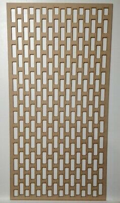 Radiator Cabinet Decorative Screening Perforated 3mm & 6mm thick MDF lasercutCG1