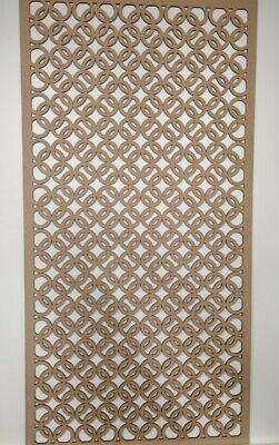 Radiator Cabinet Decorative Screening Perforated 3mm & 6mm thick MDF lasercutZK2