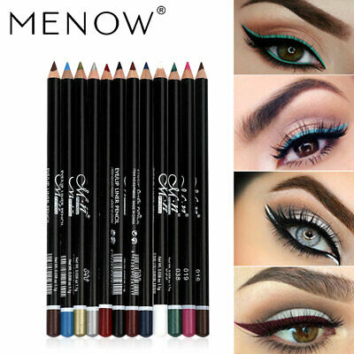 MENOW 12 Colors Eyeliner Makeup Eye Pencil Waterproof Eyebrow Eye Shadow Eye