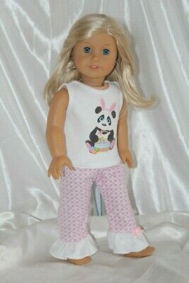 Doll Clothes fits 18 inch American Girl Dress Outfit Pajamas Panda Easter Bunny