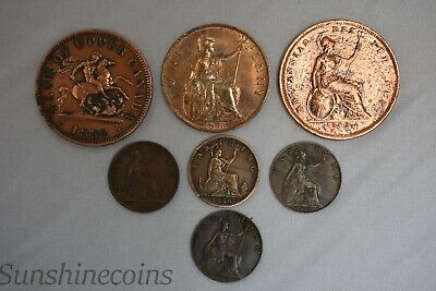 Lot Of Old Great Britain Canada Copper Coins Victoria + Free Shipping **L@@K!