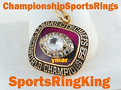 1969 Kansas City Chiefs Championship Super Bowl 14K Gold Pendant  Ring Top