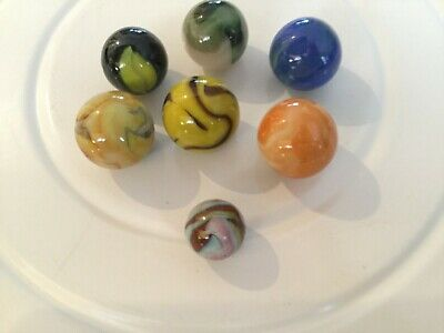 Vintage Glass Marble Shooters, Swirls COLOR