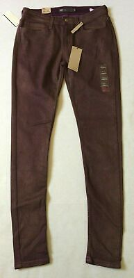 Levi's Legging Pant Jean Womens Size 30 X 31 Purple Gold Metallic Nwt