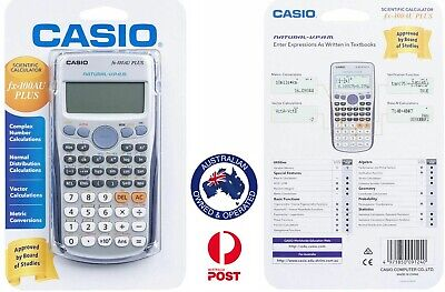 Brand New Casio FX-100AU Plus Scientific Calculator Vector Matrix Calculations