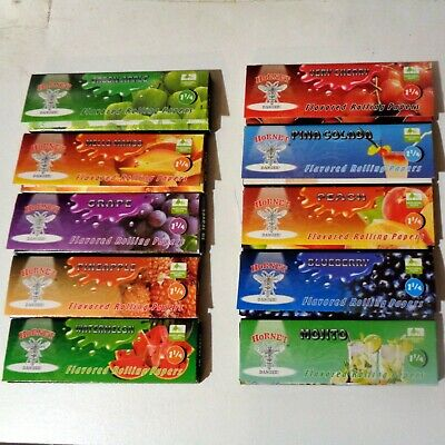 5 Fruit & Cocktail Random Flavoured Rolling Papers 250 Leaves = 5 Books