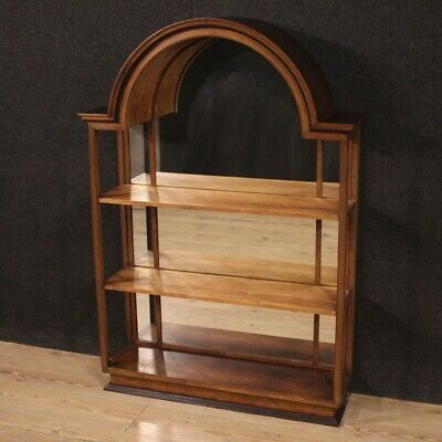 Etagere bookcase bookshelf furniture in wood with mirror antique style 900